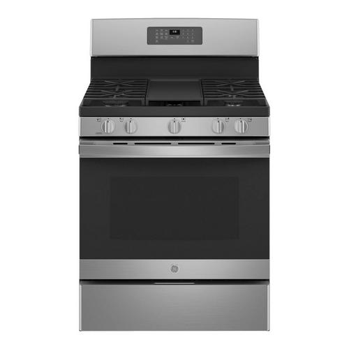 5.0 cu. ft. Self Clean 5 Burner Gas Range - Stainless Steel