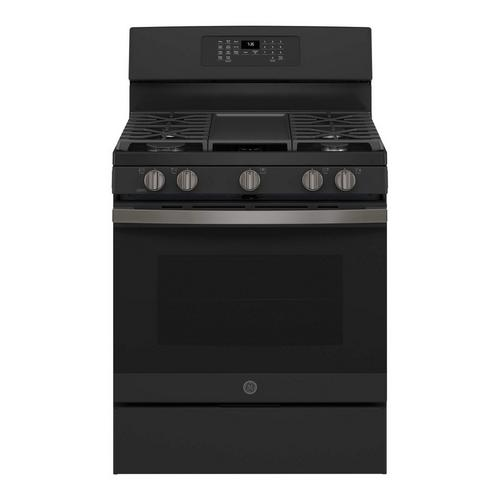 5.0 cu. ft. Self Clean Gas Convection Range - Slate