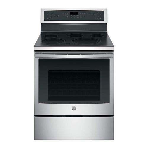 5.3 cu. ft. Self Cleaning Electric Convection Range with Ceramic Cooktop - Stainless Steel