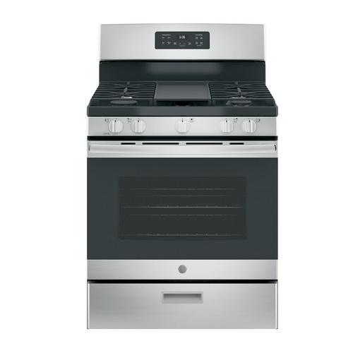 5.0 cu. ft. Steam Clean 5 Burner Gas Range - Stainless Steel