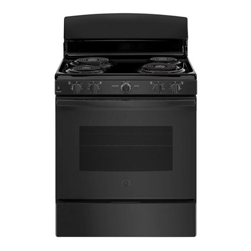 5.0 cu. ft. Front Control Electric Coil Range - Black