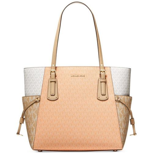 Voyager East West Tote - Peach