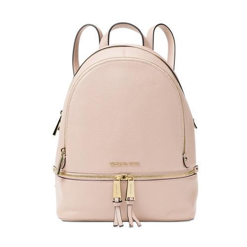 Rhea Medium Zip Leather Backpack - Pink