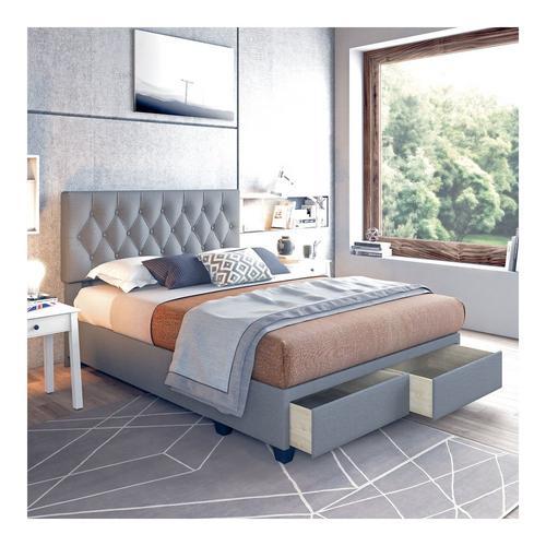 Sensations Queen Platform Storage Bed - Gray