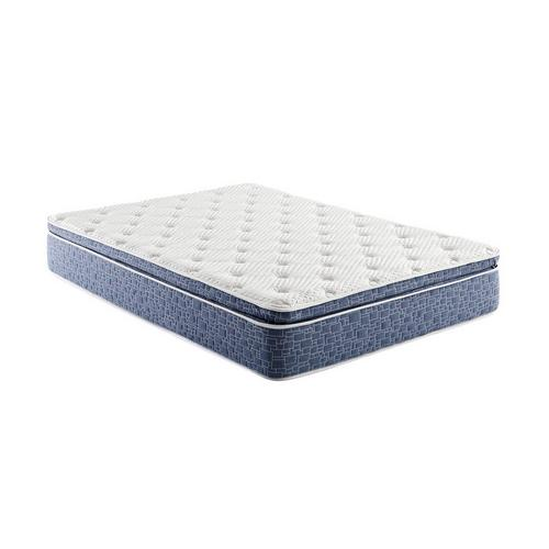 "12"" Pillow Top Plush Queen Hybrid Boxed Mattress w/ Protector"