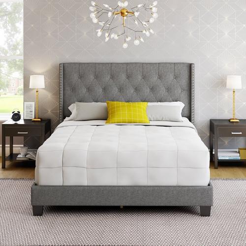 Madeira King Platform Bed - Gray