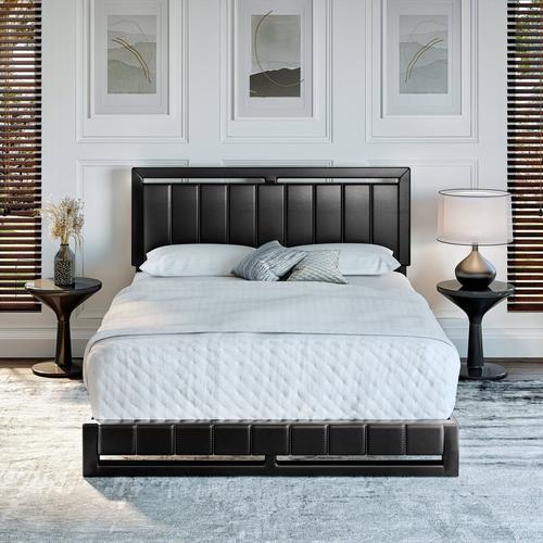Bethel Full Platform Bed - Black