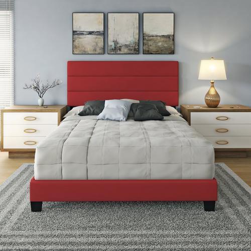 Parker Full Platform Bed - Red