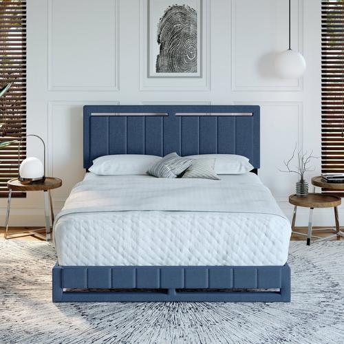 Shiloh Queen Platform Bed - Blue