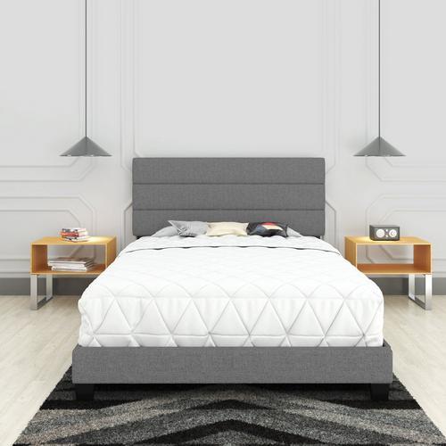 Sardinia Queen Platform Bed - Grey