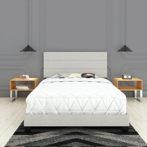 Sardinia Queen Platform Bed - White