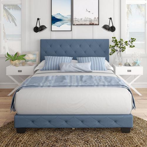 Caldwell Queen Platform Bed - Blue