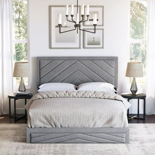 Batavia King Platform Bed - Gray