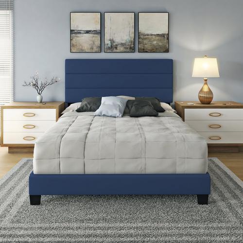 Parker King Platform Bed - Blue