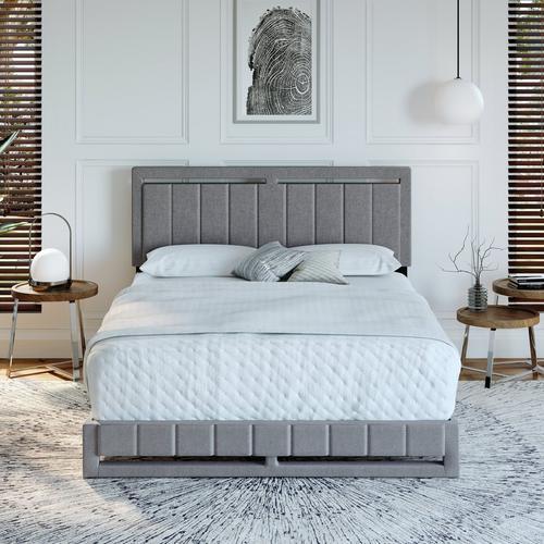 Shiloh King Platform Bed - Gray