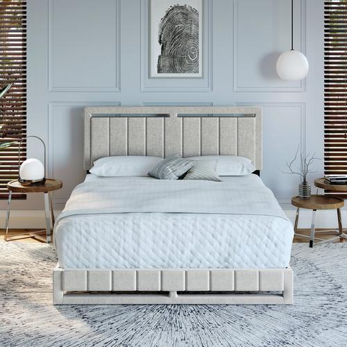 Shiloh King Platform Bed - White