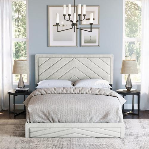 Batavia Full Platform Bed - White
