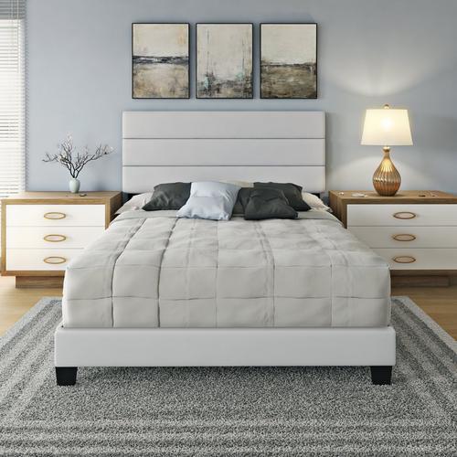 Parker Queen Platform Bed - White