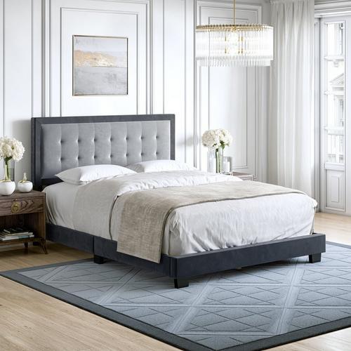 Paterson Full Platform Bed - Gray