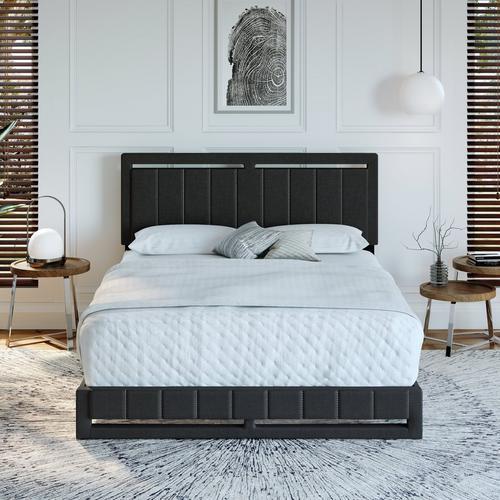 Shiloh King Platform Bed - Black