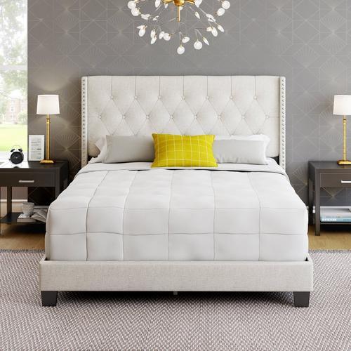 Madeira Queen Platform Bed - White
