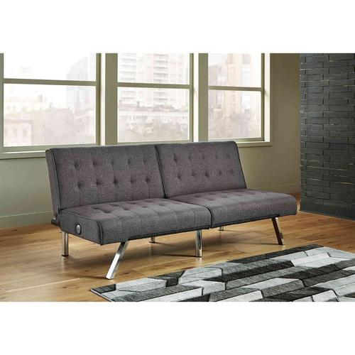 Sivley Flip Flop Armless Sofa - Charcoal
