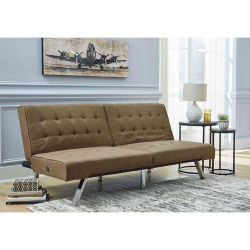 Sivley Flip Flop Armless Sofa - Camel