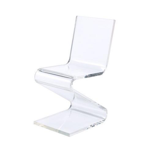 Iris Acrylic Z -Chair - Clear