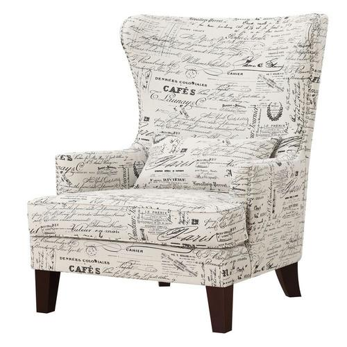 Kori Accent Chair - French Script