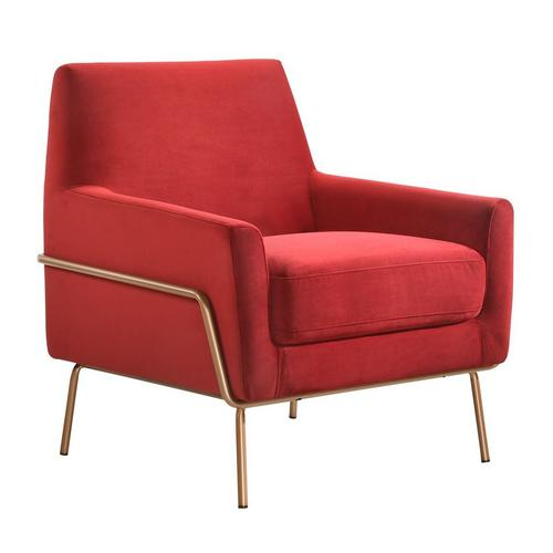 Lampur Modern Accent Arm Chair - Red