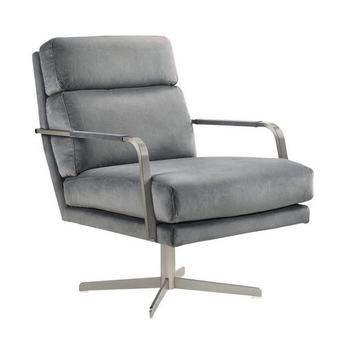 Kota Swivel Accent Chair - Gray