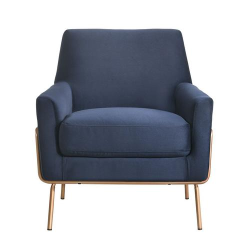 Lampur Modern Accent Arm Chair - Blue