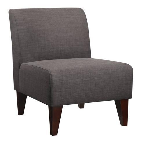 Scarlett Accent Slipper Chair - Charcoal
