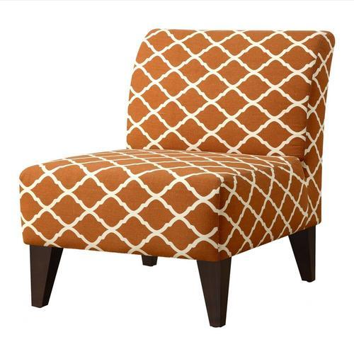 Scarlett Slipper Chair - Orange Pattern