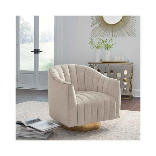 Penzlin Swivel Accent Chair - Pearl