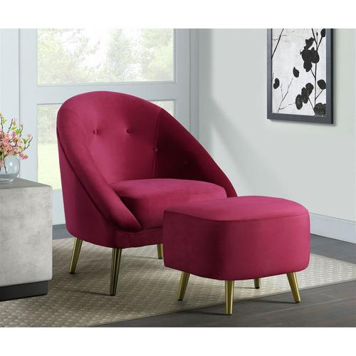 Trinity Accent Chair - Cranberry