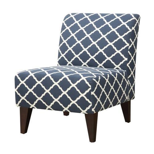 Scarlett Slipper Chair - Blue Pattern