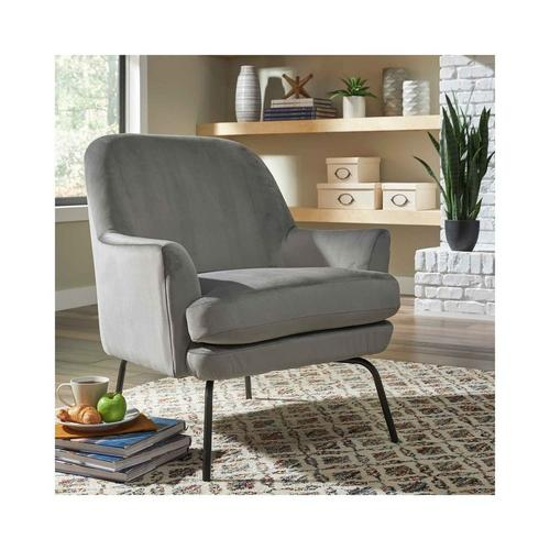 Dericka Accent Chair - Steel