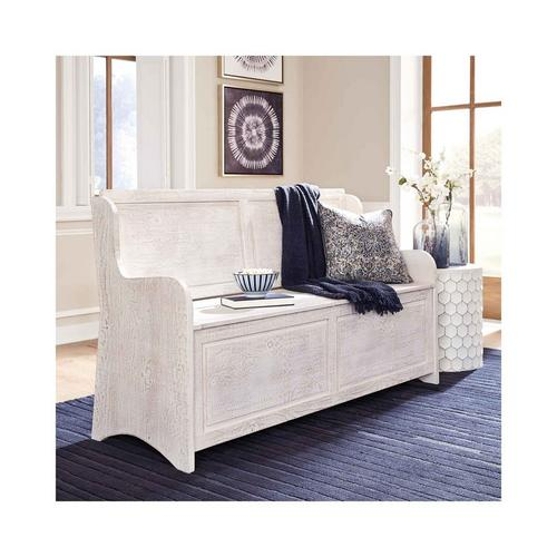Dannerville Storage Bench - Antique White
