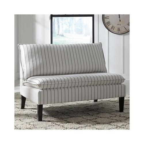 Arrowrock Accent Bench - White & Gray
