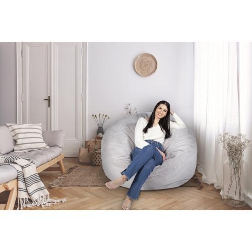 4 Feet Foam Bean Bag Chair - Grey