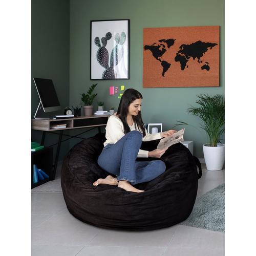 4 Feet Foam Bean Bag Chair - Black