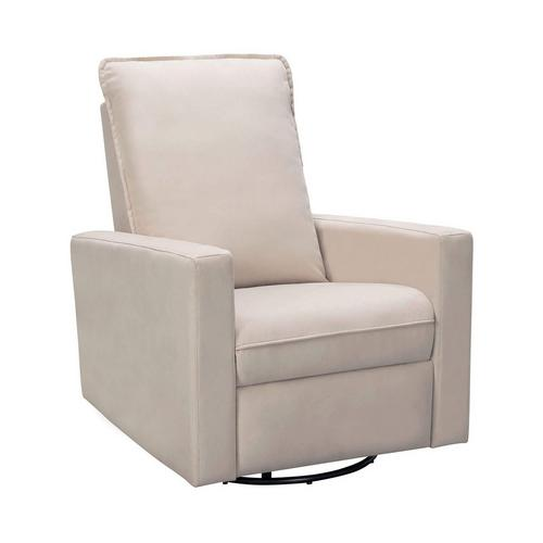Reagan Swivel Glider Recliner - White