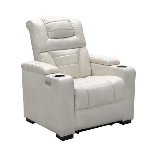 Galaxy Power Theater Chair - Ivory