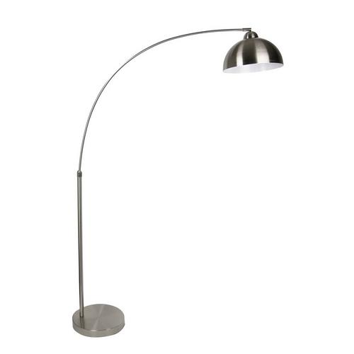 "68.5"" Brushed Nickel Arc Floor Lamp"