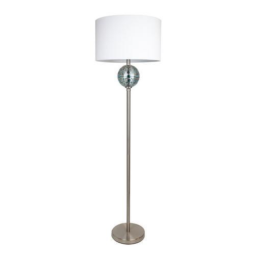 """60.75"""" Brushed Nickel Floor Lamp"""