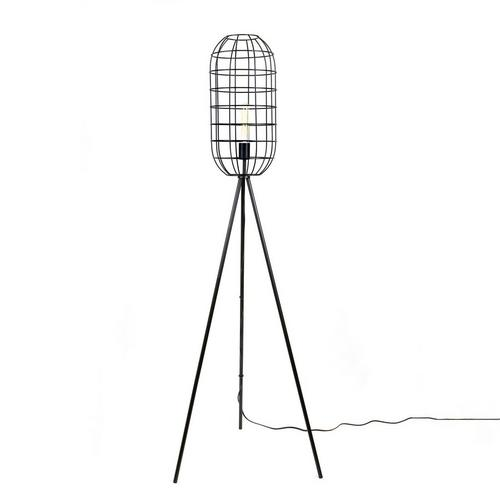 "65"" Matte Black Modern Floor Lamp"
