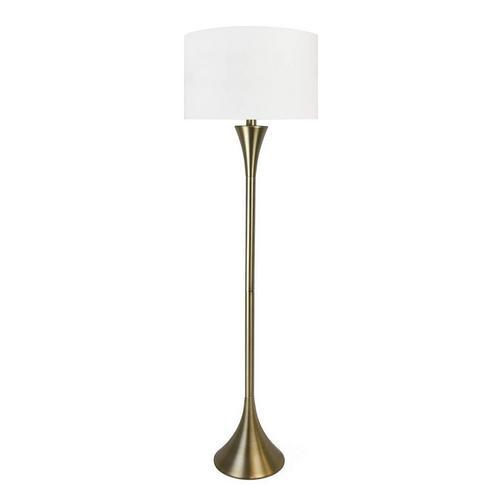 "65"" Plated Gold Metal Floor Lamp"