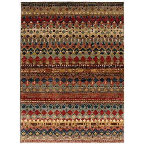 5'x8' Saigon Multi Polyester Rug