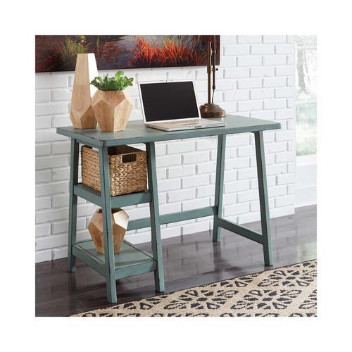 Mirimyn Home Office Small Desk - Teal